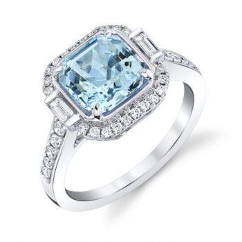 20801-RAQ - 160510 - Octagon Cut Aquamarine Ring