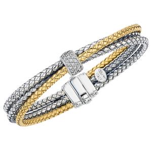 265739 - VHB 1397 D - Triple Row Twist Bracelet