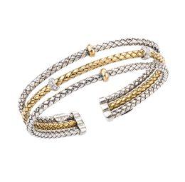 265746 - VHB 1359 D - Triple Row Straight Bracelet