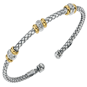 265748 - VHB 1069 D - Silver and Gold Bracelet