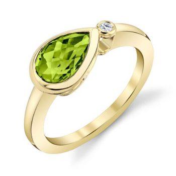 27900-RPE - 170560 - Pear Cut Peridot Ring