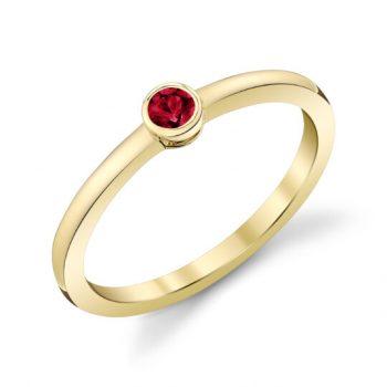27960-RRU - 130273 - Bezel Set Ruby Ring
