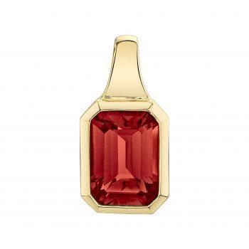31220-PGA - 393795 - Emerald Cut Garnet Pendant