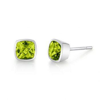 32011-5-EPE - 393687 - Peridot Stud Earrings