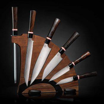 K20-EW - 350892 - Culinary Knives - Kultro Gourmet Ebony W Set