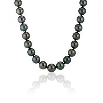 grey tahitian pearl necklace