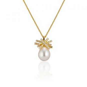 Small Heights Pearl and Diamond Necklace