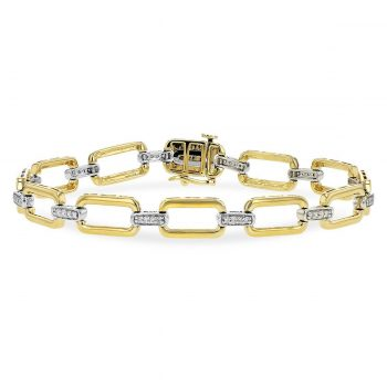 B1242 - 091545 - Diamond Link Bracelet