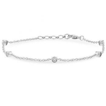 BR63-15 - 101312 - Bezel Set Diamond Bracelet