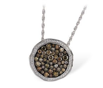 Natural Diamond Cluster Necklace